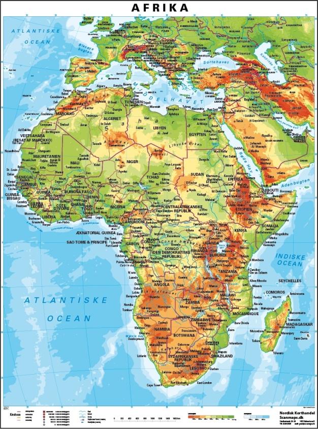 Afrika Gulvlaminering Vaegkort Nordisk Korthandel Nordisk
