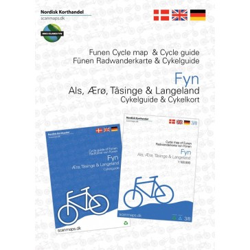 Funen, Ærø, Tåsinge og Langeland cycle map and cycle guide