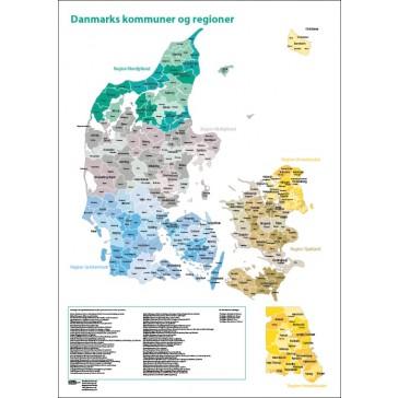 Danmark kommunekort digital