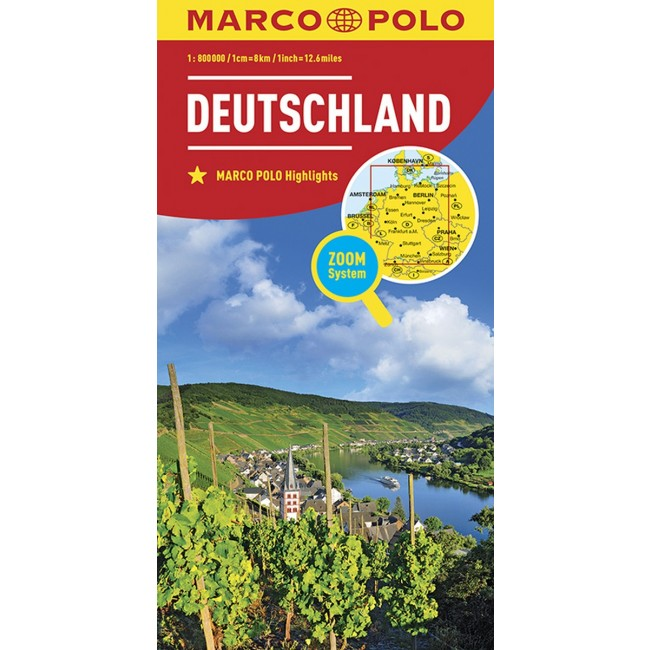 Germany Germany Kort Marco Polo Nordisk Korthandel