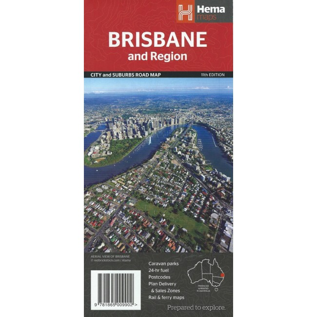 Brisbane And Region Australia Kort Hema Maps Nordisk