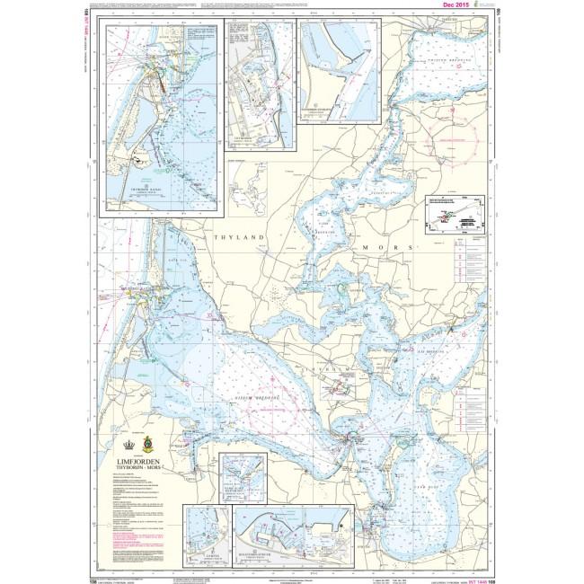 108 Limfjorden Thyboron Mors Kortmal 65 X 91 Cm Denmark