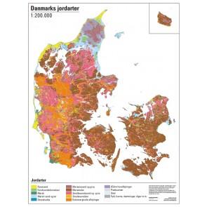 Danmark jordartskort 1:366.000