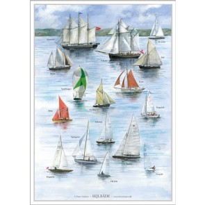 Sejlbåde - plakat