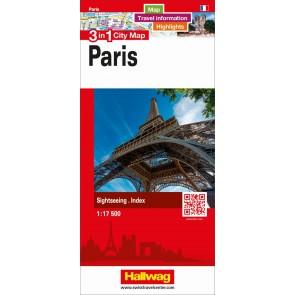 Paris 3 in 1 City Map