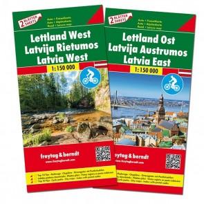 Latvia East/West (2 maps)
