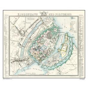 Kjøbenhavn med forstæder - år 1848
