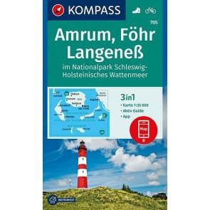 Amrum, Föhr, Langeness im NP Schleswig-Holsteinisches Watten