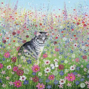 Cat in a cottage garden