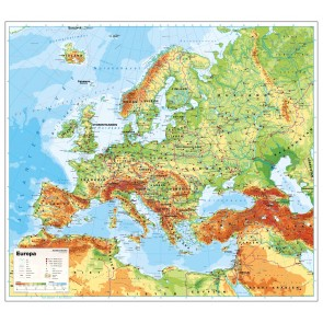 Europa fysisk uden  flag