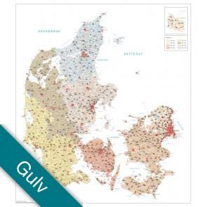 Danmark Postnumre Gulvlaminering