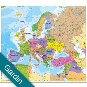Europa politisk uden flag  Gardin