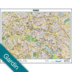 Paris bykort Gardin
