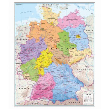 Tyskland, med delstater som kaldes forbundslande