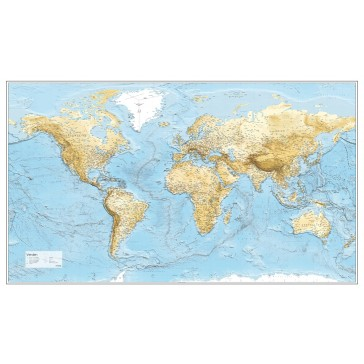 Verden m/havdybder - lys