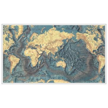 Verdenskort med havbund