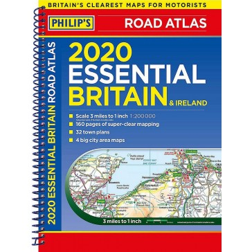 Philip's Essental Road Atlas Britain & Ireland 2020