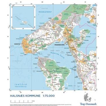 Trap Danmark: Kort over Halsnæs Kommune