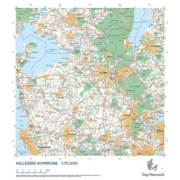 Trap Danmark: Kort over Hillerød Kommune