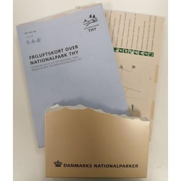 Friluftskort over Nationalpark Thy