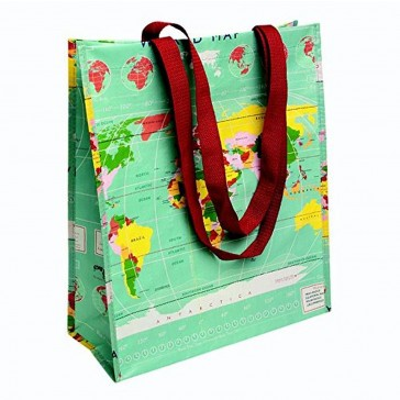 World Map Design Shopping Bag