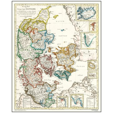 Danmark med oversøiske besiddelser - år 1837