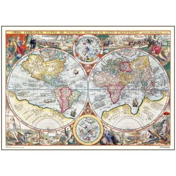 Verdenskort - år 1594 (stor format)
