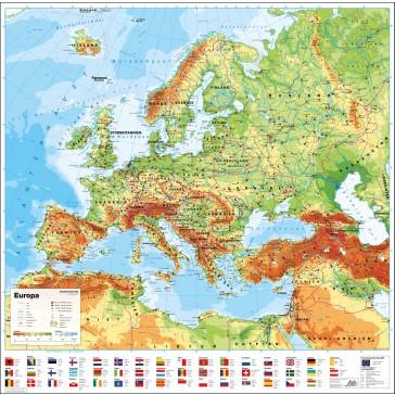Europa med flag