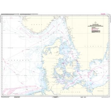 C Danmark med omgivende farvande (kortmål 103 x 77 cm)
