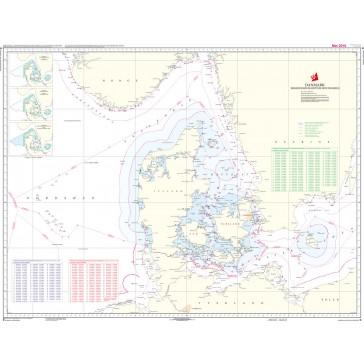 D Danmark, Søgrænser (kortmål 103 x 77 cm)