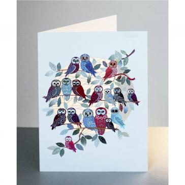 Store ugler - dobbelt kort med kuvert