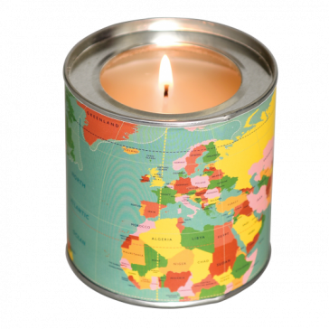 World Map Scented Candle - Musk Scent