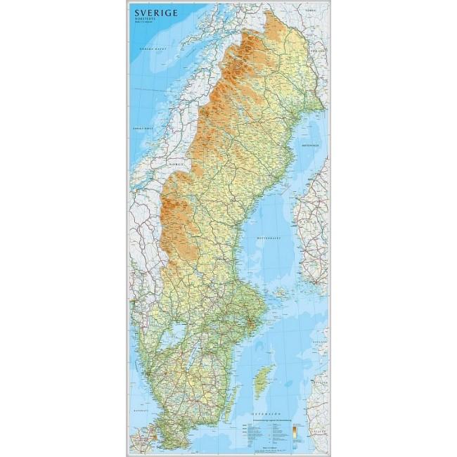 Sverige Sverige Vaegkort Lantmaeteriet Kartforlage Nordisk