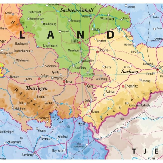 Tyskland Med Delstater Som Kaldes Forbundslande Tyskland