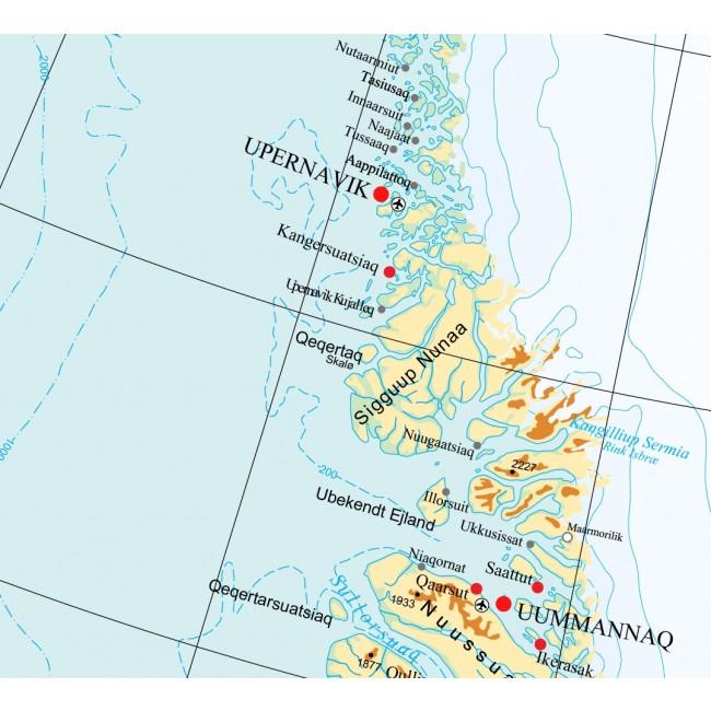 Gronland Gronland Vaegkort Geodatastyrelsen Nordisk Korthandel