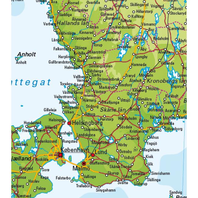 Sverige Kort Områder