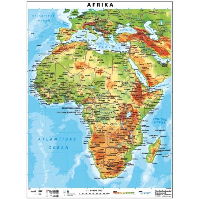 Afrika Vaegkort Nordisk Korthandel Nordisk Korthandel