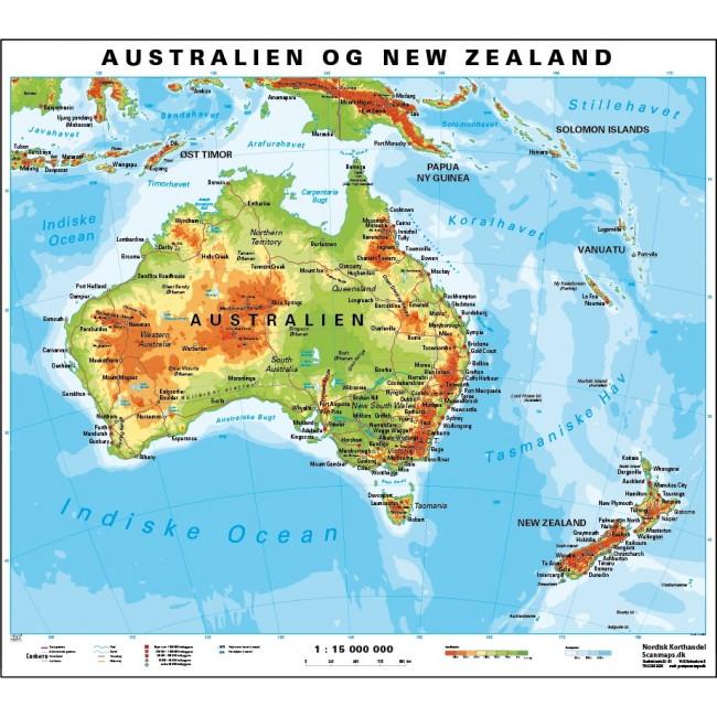 Australien Vaegkort Nordisk Korthandel Nordisk Korthandel
