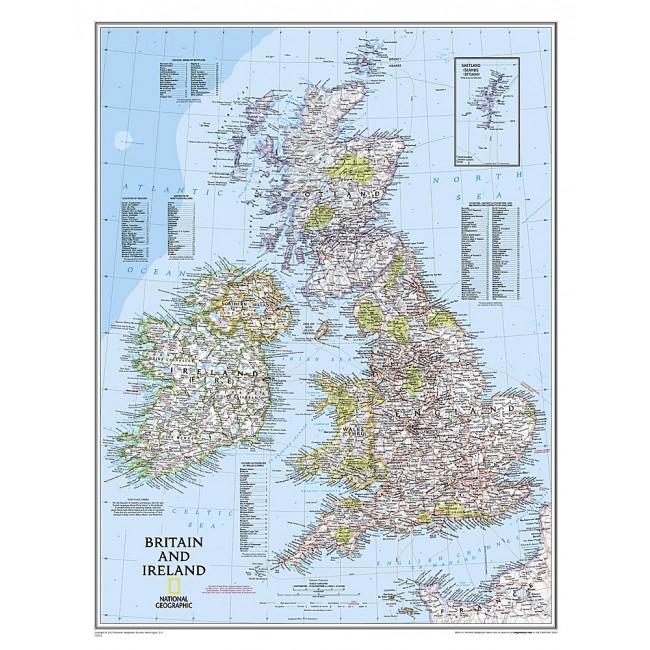 Storbritannien England Vaegkort National Geographic Nordisk