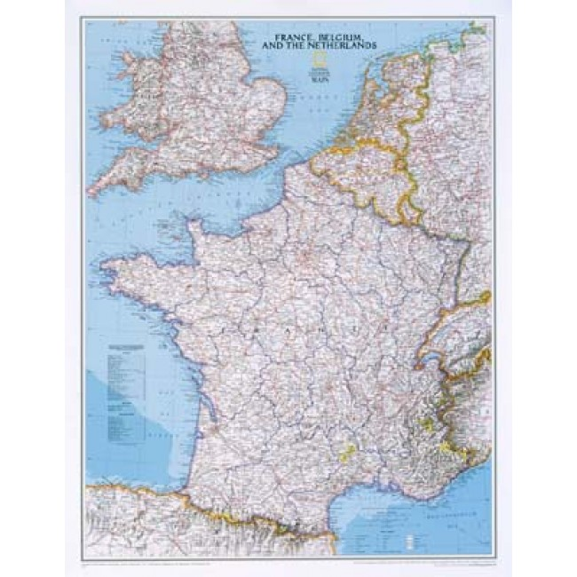 Frankrig Belgien Og Holland Frankrig Vaegkort National