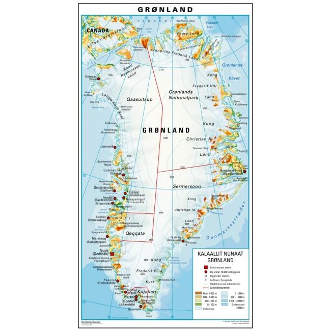 Gronland Gronland Vaegkort Nordisk Korthandel Nordisk
