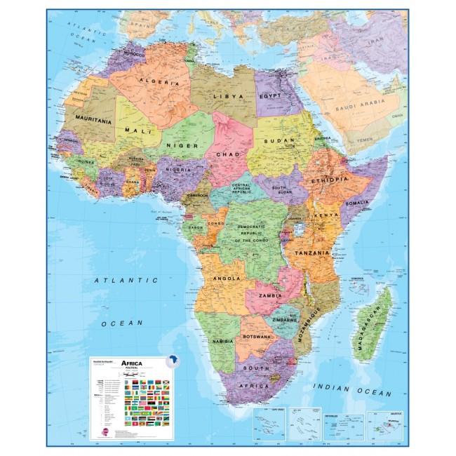 Afrika Politisk Vaegkort Nordisk Korthandel Nordisk Korthandel