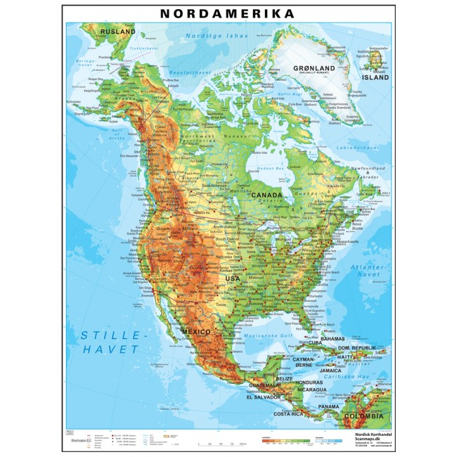Nordamerika Vaegkort Nordisk Korthandel Nordisk Korthandel