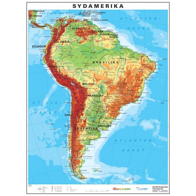 Sydamerika Vaegkort Nordisk Korthandel Nordisk Korthandel