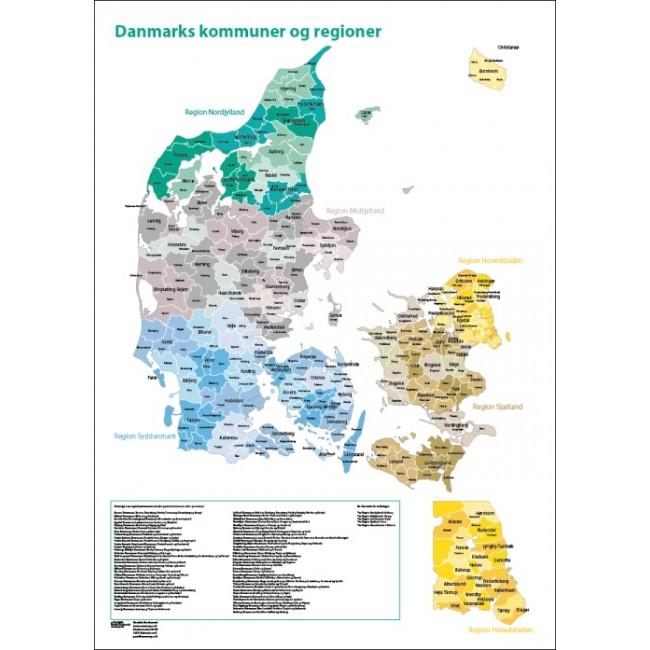 Danmarks Kommuner Og Regioner Danmark Vaegkort Nordisk