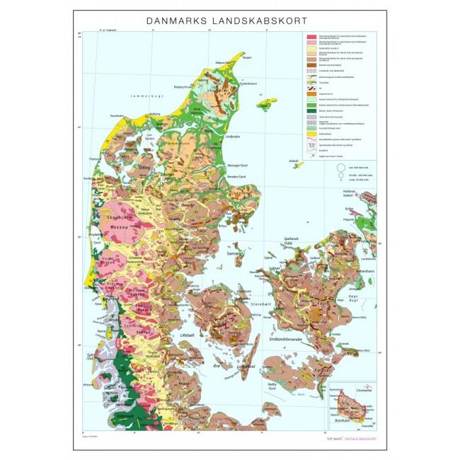 Danmarks Landskabskort Danmark Vaegkort Nordisk Korthandel