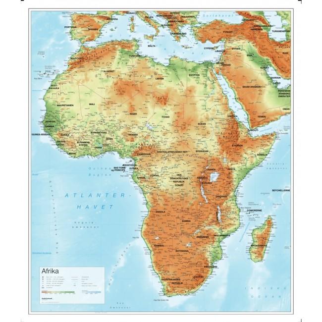Afrika Relief Vaegkort Nordisk Korthandel Nordisk Korthandel