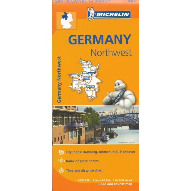 Germany Northwest Tyskland Kort Michelin Nordisk Korthandel