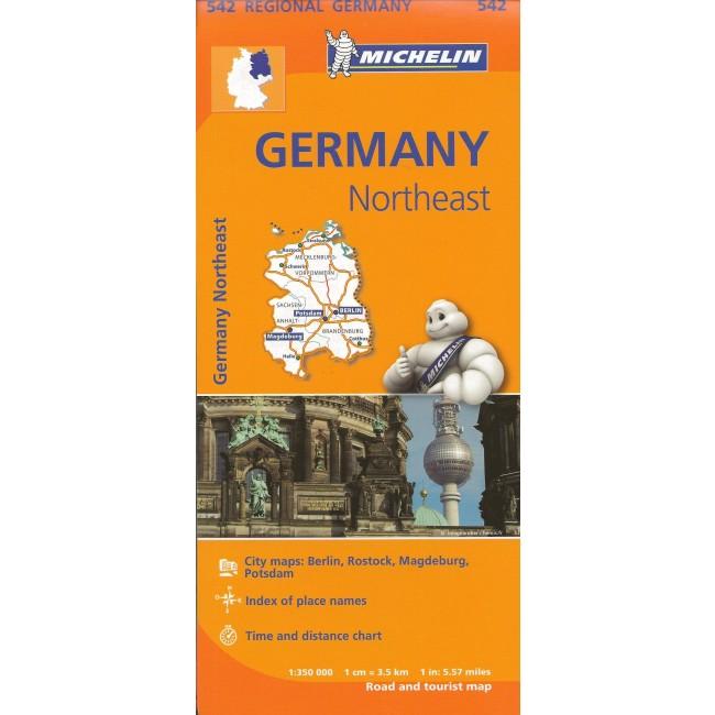 Germany Northeast Tyskland Kort Michelin Nordisk Korthandel