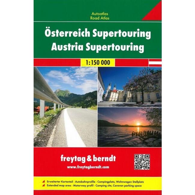 Austria Supertouring Roadatlas Ostrig Kort Freytag